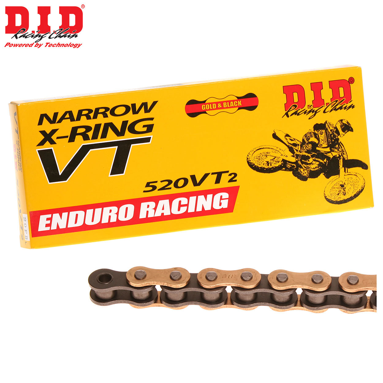 did 520 vt2 x ring motocross enduro chain. Black Bedroom Furniture Sets. Home Design Ideas