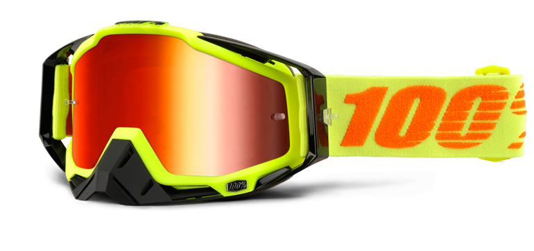 b7bd7a74510 100% Racecraft Goggles - Attack Yellow Mirror Lens